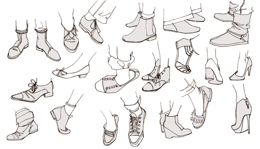 comment dessiner une chaussure converse étape par étape